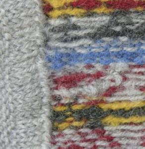 Binnenkant vervilte trui